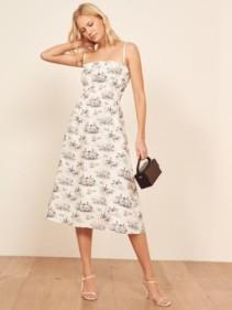 REFORMATION Fraust White Dress