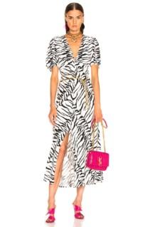 RIXO Tonya White Dress