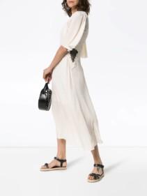 SEE BY CHLOÉ Lace Panel Midi White Dress