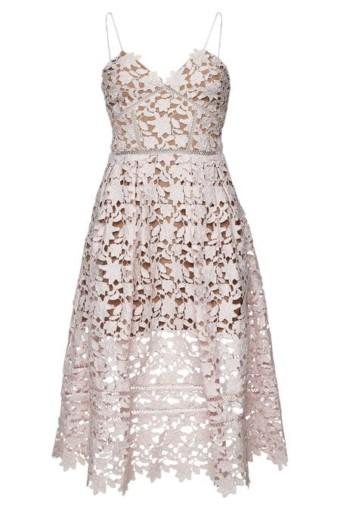 SELF-PORTRAIT Azaelea Lace Midi Pink Dress