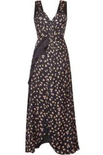 SELF-PORTRAIT Printed Maxi Black Dress