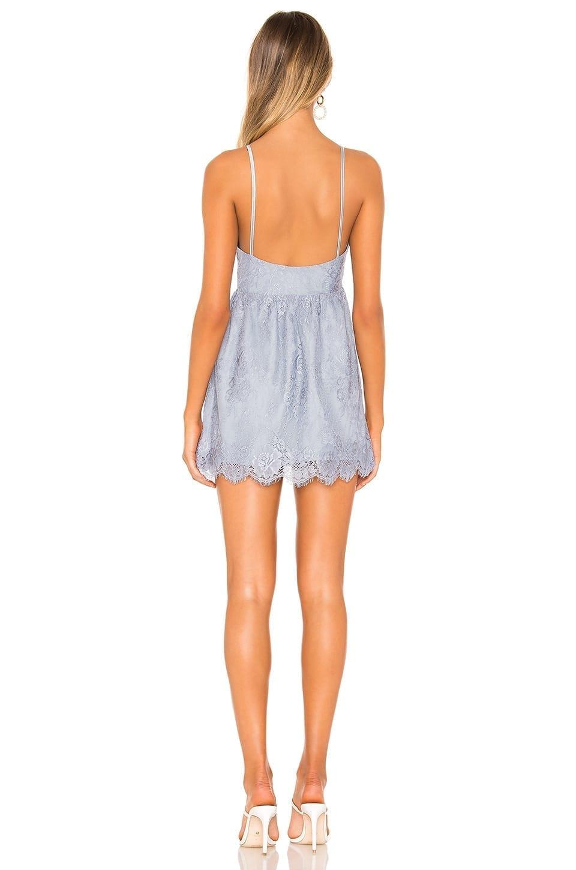 SUPERDOWN Mandy Lace Flare Blue Dress