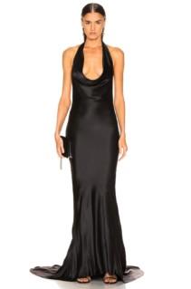 STELLA MCCARTNEY Plunging Black Dress