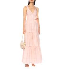 TEMPERLEY LONDON Beaux Cotton Maxi Pink Dress