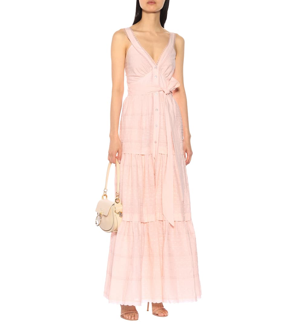 TEMPERLEY LONDON Beaux Cotton Maxi Pink Dress