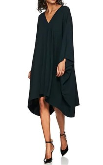 THE ROW Iona Stretch-Cady Caftan Green Dress