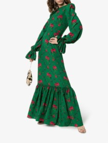 THE VAMPIRE'S WIFE The Gypsy Riding Green / Floral Printed Dress