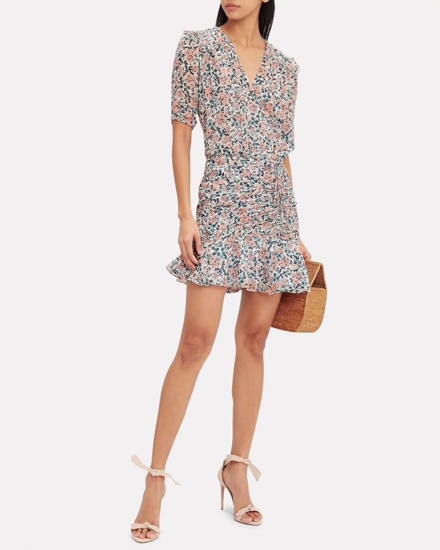 VERONICA BEARD Dakota Gardenia Mini Floral Dress