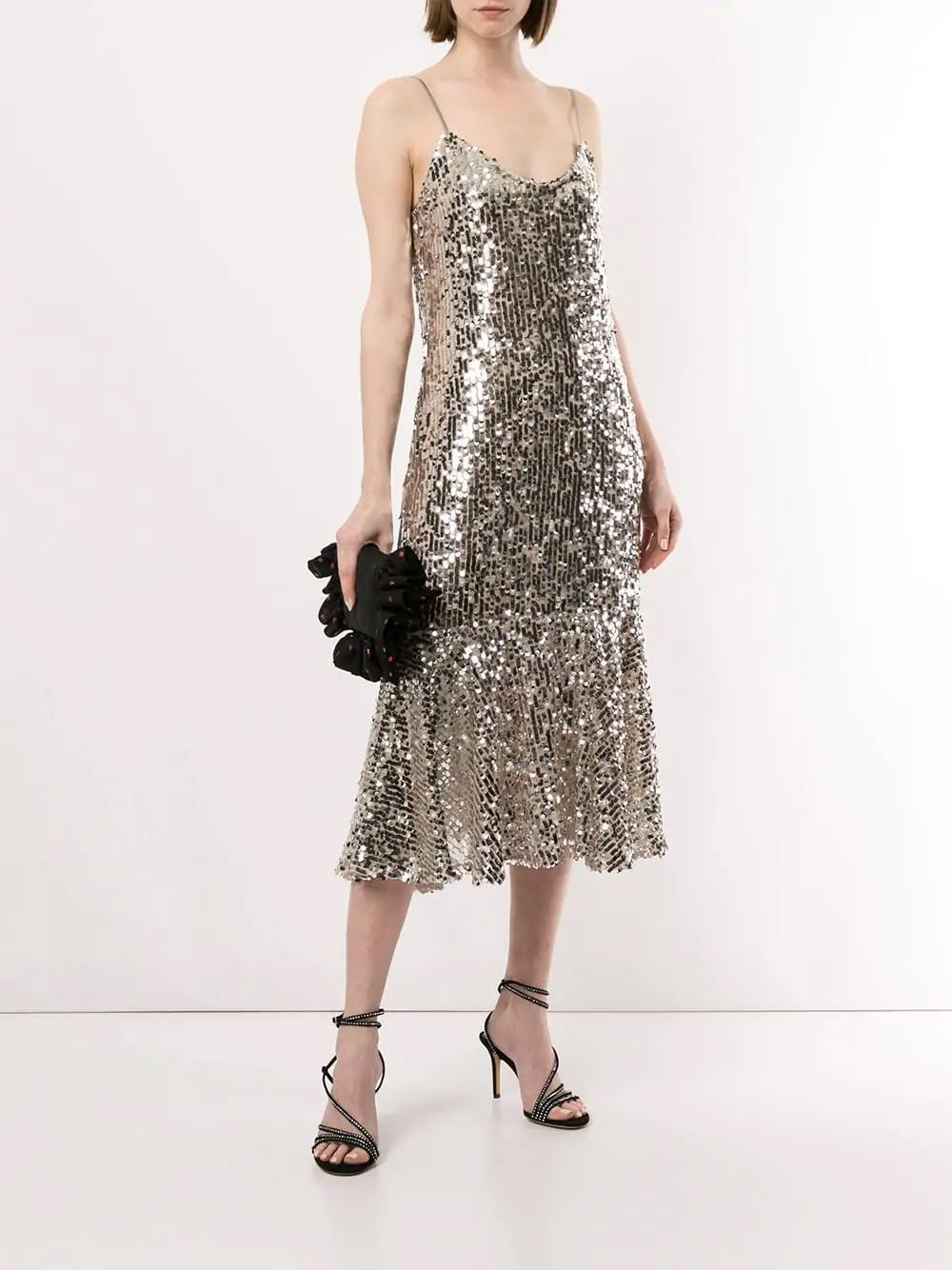 VERONICA BEARD Mykola Silver Dress