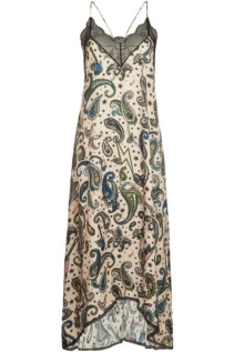 ZADIG & VOLTAIRE Risty Lace Printed Slip Dress