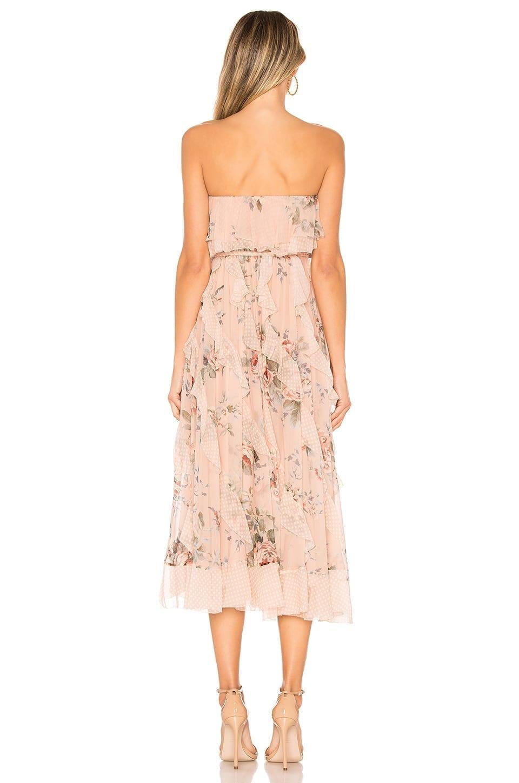 ZIMMERMANN Bowie Waterfall Peach / Floral Printed Dress