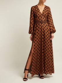 ZIMMERMANN Juno Split Maxi Tan Dress