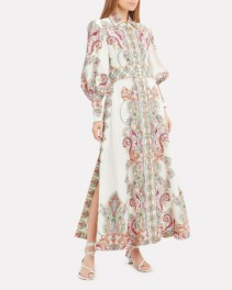 ZIMMERMANN Ninety-Six Paisley Maxi White Dress