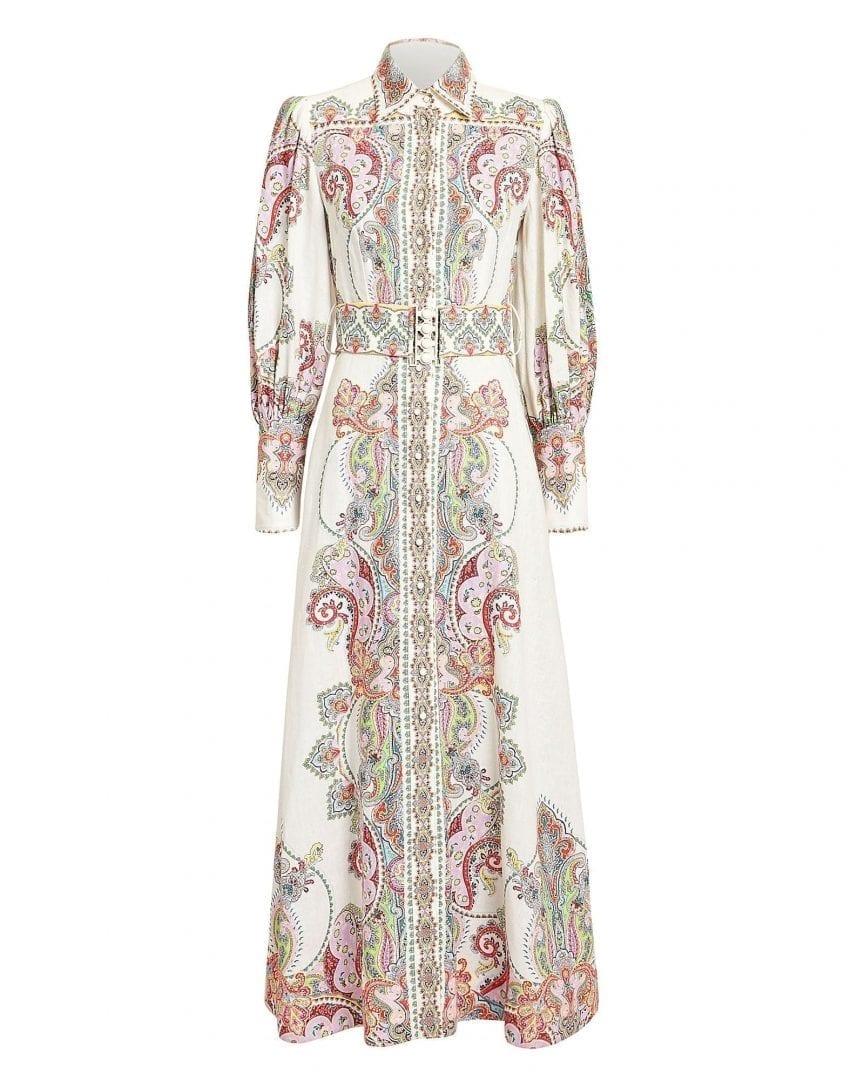 Zimmermann Ninety Six Paisley Maxi White Dress We Select