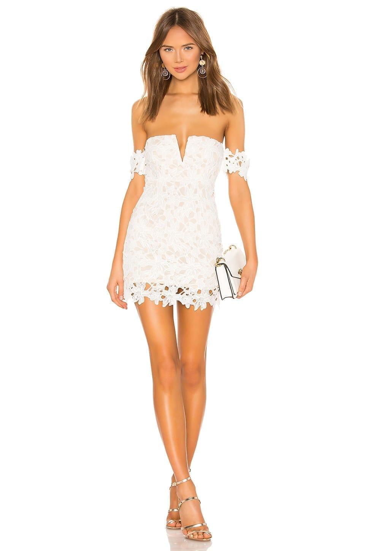 SUPERDOWN Shannan Mini White Dress