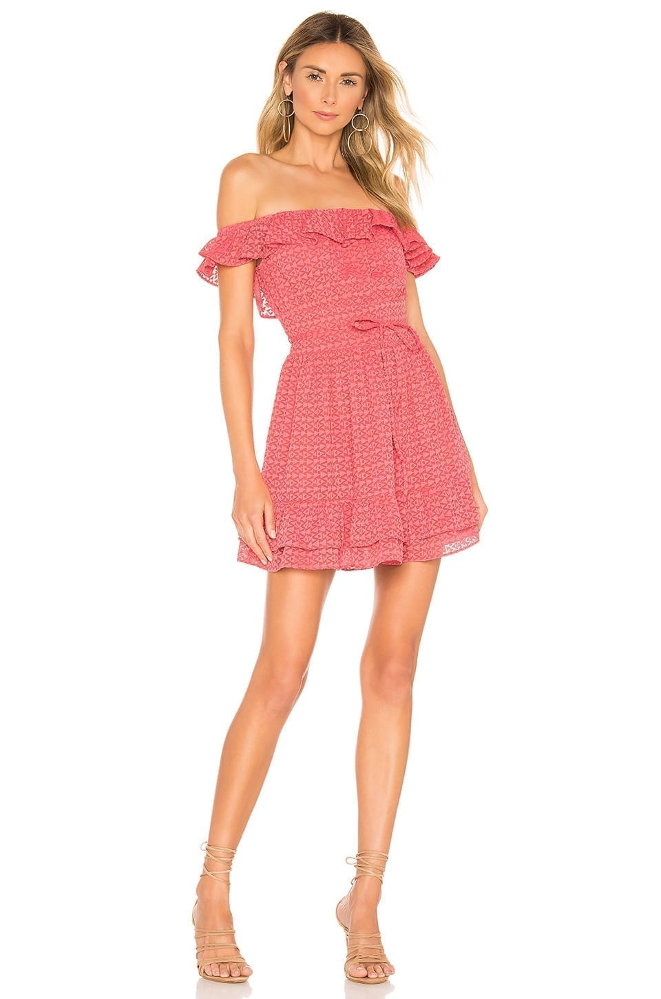 TULAROSA Oliver Coral Pink Dress