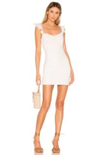 MAJORELLE Fanning Mini Ivory Dress