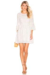 BB DAKOTA Jack Eyelet On The Prize Bright White Dress
