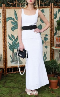 REBECCA DE RAVENEL Penelope Broderie Anglaise Cotton Maxi White Dress