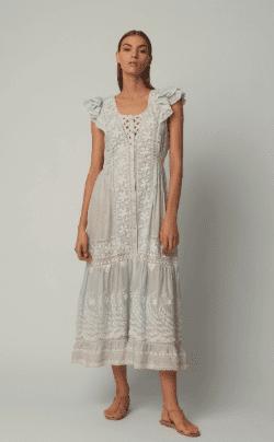 LOVESHOCKFANCY Valentina Cotton Blue Dress
