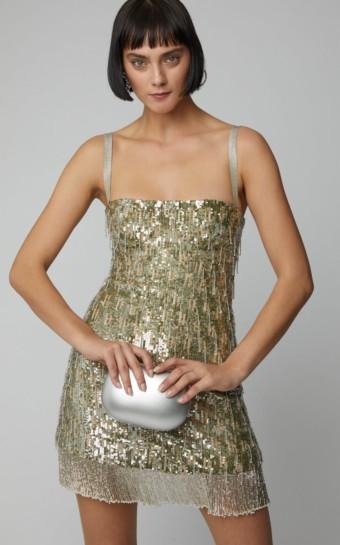 ALEXIS Izabell Sequin Mini Metallic Dress
