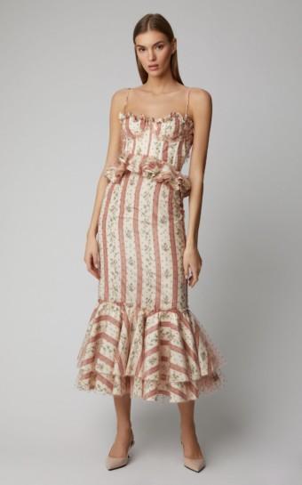 BROCK COLLECTION Ophelie Floral Taffeta Multi-color Dress