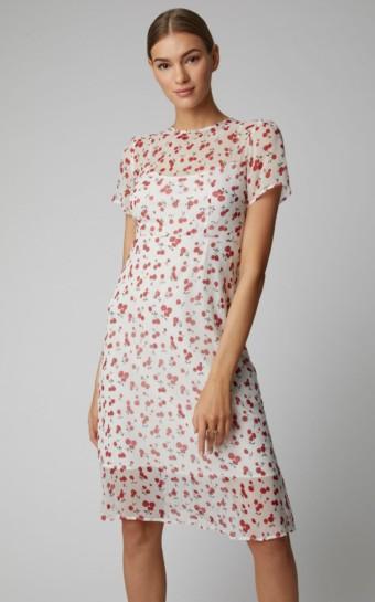 HVN Lindy Gingham Sllk-Chiffon Red Dress