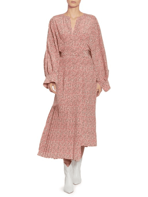 0850db9324a SAKS FIFTH AVENUE Isabel Marant Alexandra Silk Asymmetric Wrap Pink Dress