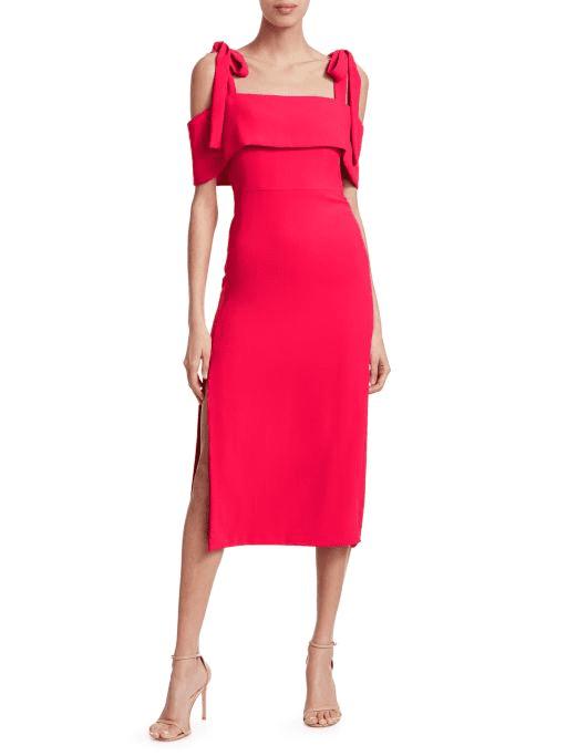 eef1a473 ML MONIQUE LHUILLIER Tie Shoulder Sheath Dress - We Select Dresses