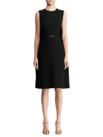 SAKS FIFTH AVENUE Ralph Lauren Collection Aviana Belted Cape Black Dress
