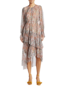 SAKS FIFTH AVENUE Zimmermann Ninety-Six Paisley Silk Dress