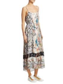 SAKS FIFTH AVENUE Zimmermann Ninety-Six Spliced Pleat Multi Floral Dress
