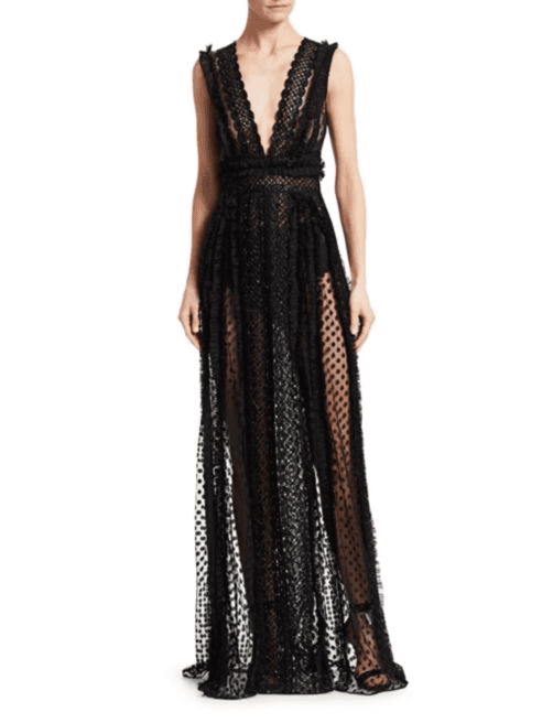 f8778706622 ZUHAIR MURAD Lanai Sheer Black Gown - We Select Dresses