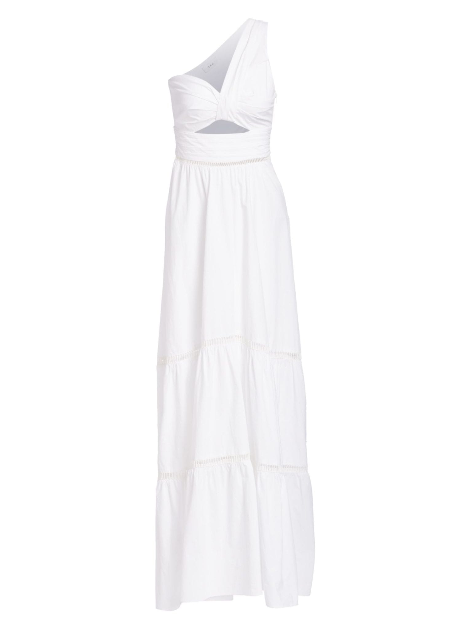 A.L.C. Piper Cotton One-Shoulder White Dress