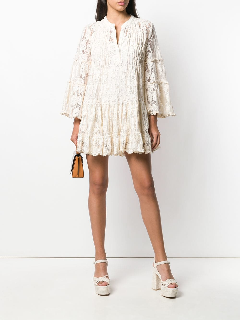 ALEXIS Beaded Lace Ivory Dress