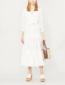 ALEXIS Joyce Embroidered Linen White Dress