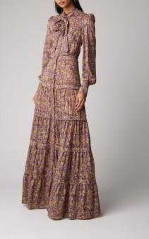 ALEXIS Margeaux Floral Maxi Purple Dress