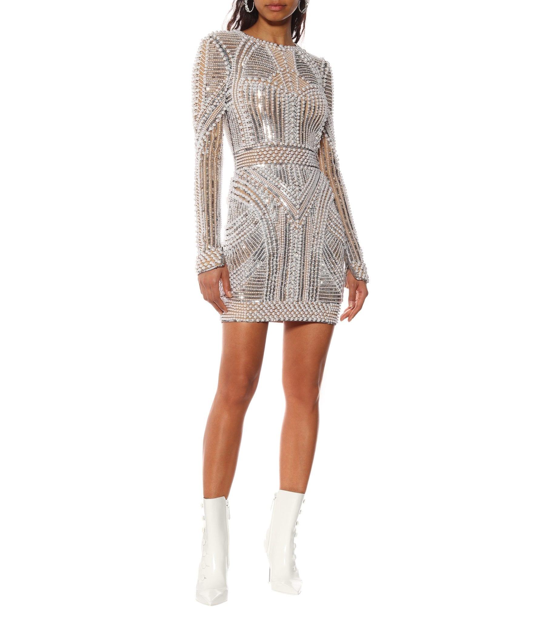 16d87bea BALMAIN Embellished Mini Beige Dress - We Select Dresses
