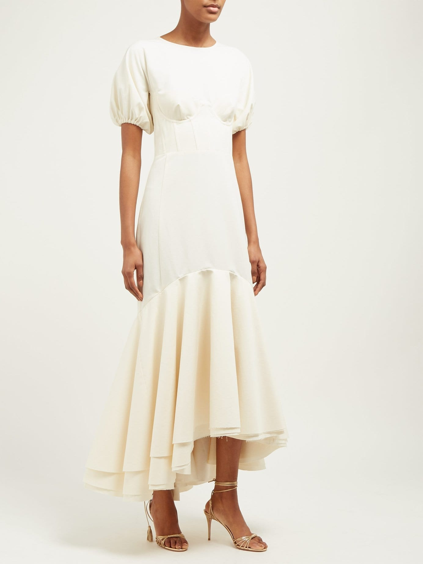 BROCK COLLECTION Odliguard Cotton-Faille White Gown