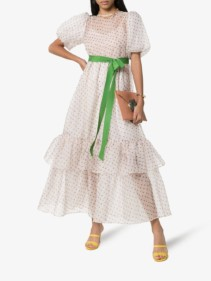BY TIMO Polka-Dot Print Organza off-White Dress