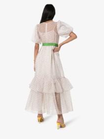 BY TIMO Polka-Dot Print Organza off-White Dress