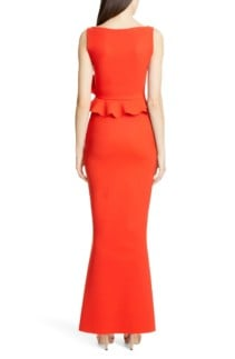 CHIARA BONI LA PETITE ROBE Side Ruffle Evening Orange Dress