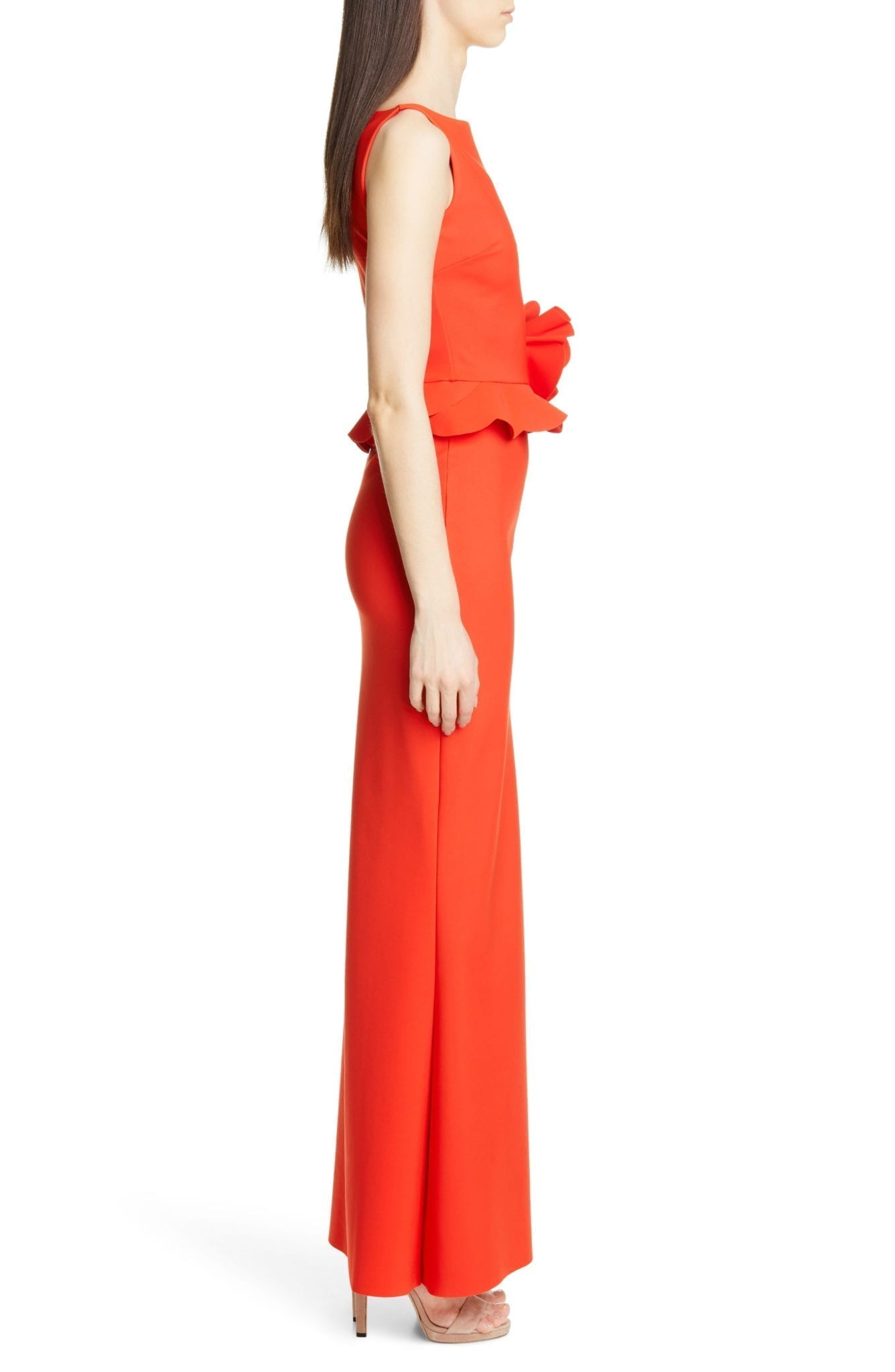 a5a4ced7aa77 CHIARA BONI LA PETITE ROBE Side Ruffle Evening Orange Dress - We ...