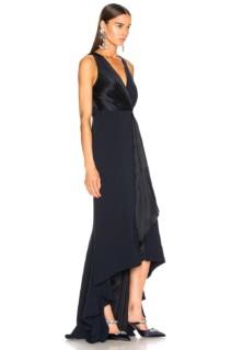 CINQ A SEPT Iris Navy Gown