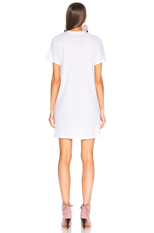 ENZA COSTA Short Sleeve Crew Mini White Dress