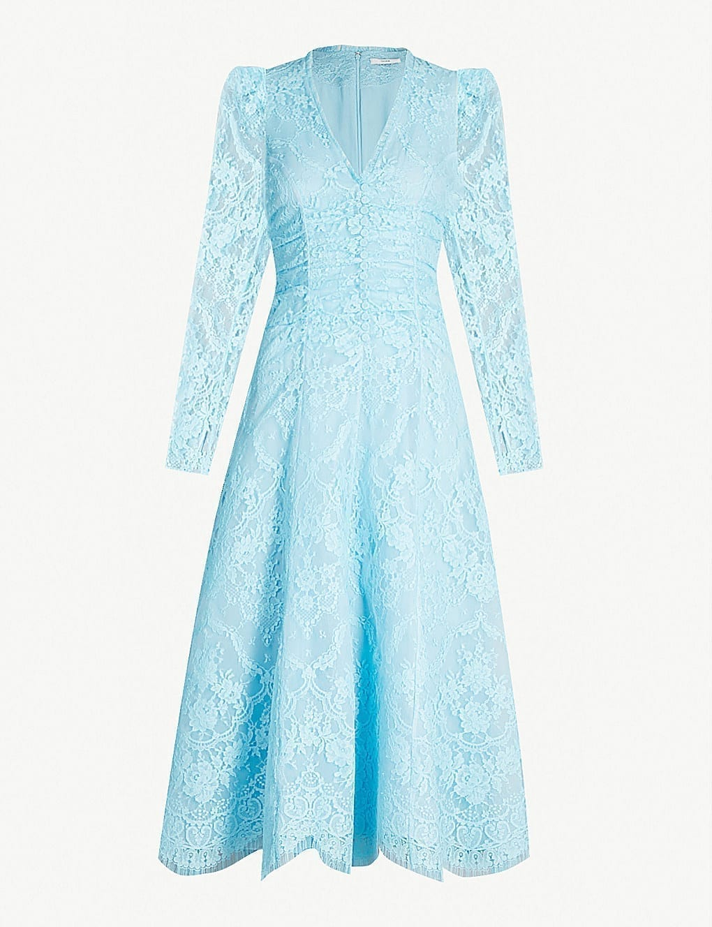 ERDEM Annalee Lace Midi Blue Dress