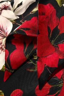 ERDEM Anora Cold-Shoulder Floral-Print Silk-Satin Black Gown