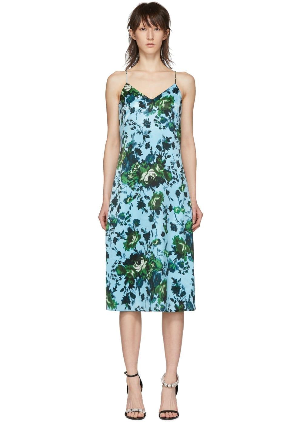 ERDEM Fitzroy Rose Vivianne Blue Dress