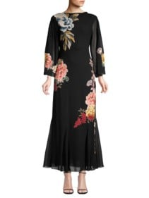 ETRO Floral Embroidered Black Dress