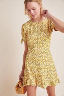 FAITHFULL Marguerite Mini Yellow Dress